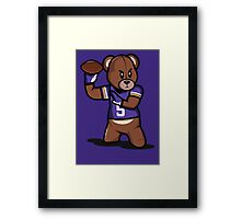 VICTRS - Teddy Football™ Framed Print