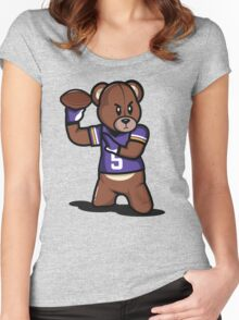 VICTRS - Teddy Football™ Women's Fitted Scoop T-Shirt
