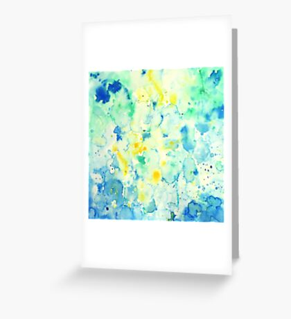 Watercolor abstract landscape Painting Greeting Card