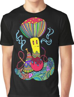 Hooka & Mushroom Graphic T-Shirt