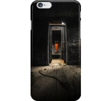 Old train carriage interior with light intruding iPhone Case/Skin