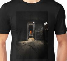 Old train carriage interior with light intruding Unisex T-Shirt
