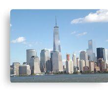 New World Trade Center, Lower Manhattan Skyline, Hudson River, View from New Jersey Canvas Print