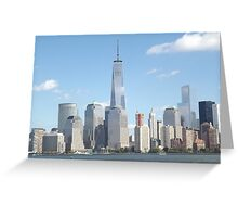 New World Trade Center, Lower Manhattan Skyline, Hudson River, View from New Jersey Greeting Card
