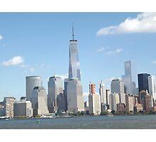 New World Trade Center, Lower Manhattan Skyline, Hudson River, View from New Jersey Photographic Print