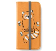 Red Panda with White Flowers iPhone Wallet/Case/Skin