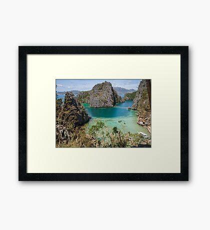 Postcard from Coron Island Framed Print