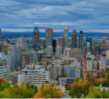 Downtown Montreal panorama  Sticker