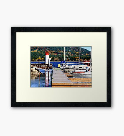 Fall lighthouse Framed Print