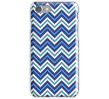 Chevron Pattern | Zig Zags | Blue, Black and White iPhone Case/Skin