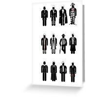 Timelord recognition guide - 12 Doctors Greeting Card