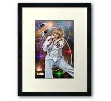 Jeff Keith of Tesla Framed Print