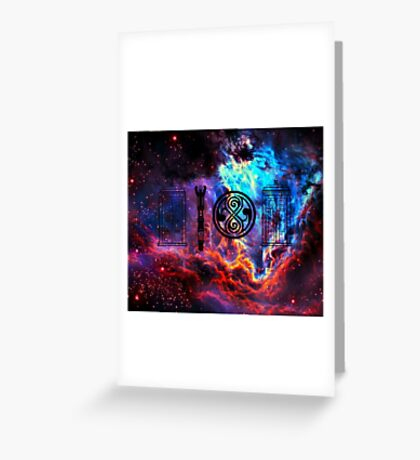 Dr Who Galaxy Greeting Card