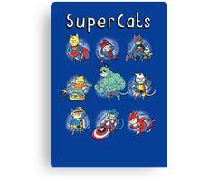 Superheroes Cats Canvas Print