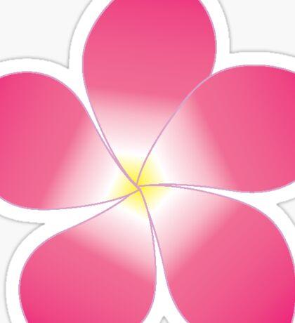 Pink Plumeria Sticker