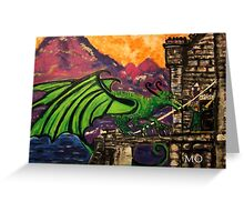 King Jayse and the Dragon  Greeting Card