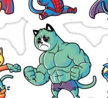 Superheroes Cats Sticker
