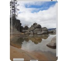 Cloudy Sand Harbor Cove iPad Case/Skin