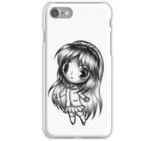 Adorable Anime Girl (Black and White) iPhone Case/Skin