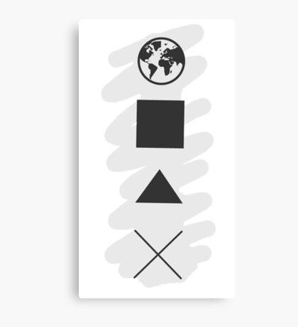 Circle square triangle X Canvas Print