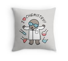 I Heart Chemistry - Scientist Chemist Mole Throw Pillow