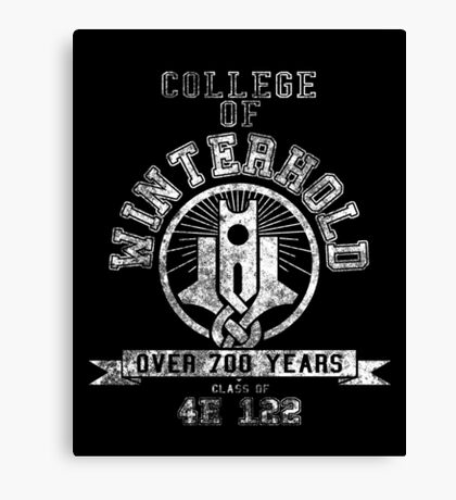 Skyrim - College Of Winterhold - College Jersey Canvas Print
