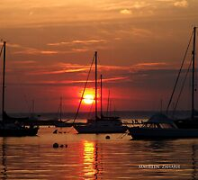 sunset in watch hill, rhode island by Maureen Zaharie