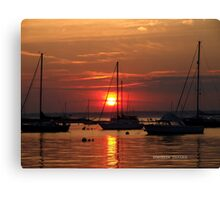 sunset in watch hill, rhode island Canvas Print