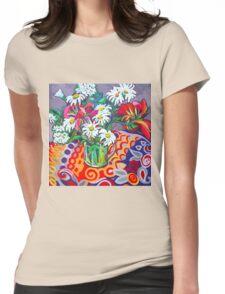 Daisy Still Life Womens Fitted T-Shirt