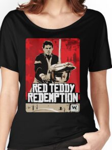 Red Teddy Redemption Mashup Women's Relaxed Fit T-Shirt