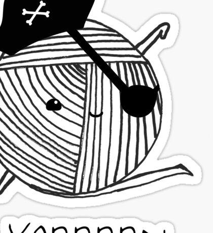 Yarrrn Sticker