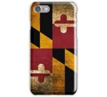 Vintage Grunge Flag of Maryland iPhone Case/Skin