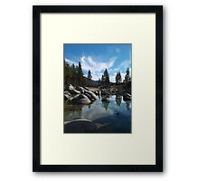 Quiet Day at Sand Harbor Framed Print