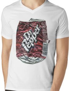Crushed Dr Pepper Tin Mens V-Neck T-Shirt
