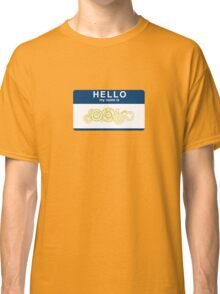 Hello, My Name Is The Doctor Classic T-Shirt