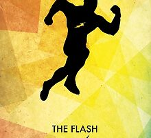 The Flash Minimal Poster by Jelsier