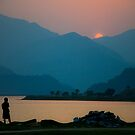 Dusk on Phewa Lake by Valerie Rosen