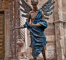 Italy. Verona. Angel sculpture in front of the Cathedral. by vadim19