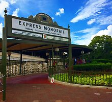 Walt Disney World Express Monorail Station  by BrandonBalasco