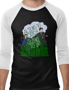 Aliens To Catch, Science To Do Men's Baseball ¾ T-Shirt