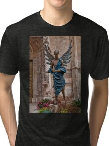 Italy. Verona. Angel sculpture in front of the Cathedral. Tri-blend T-Shirt
