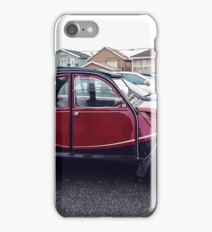Classic vintage French Citroen car auto automobile vehicle red black iPhone Case/Skin