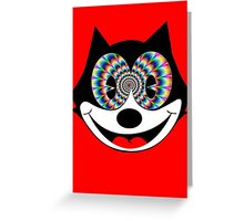 trippy felix Greeting Card