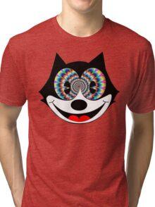 trippy felix Tri-blend T-Shirt