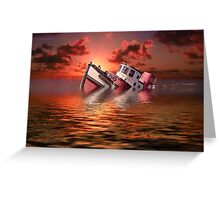 Sinking Boat Greeting Card