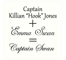 Captain Swan Equation Art Print