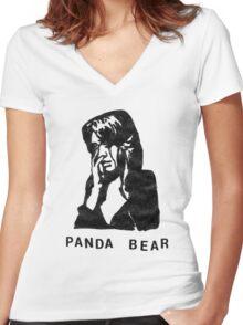Panda Bear (Tomboy) Women's Fitted V-Neck T-Shirt