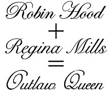 Outlaw Queen Equation Photographic Print