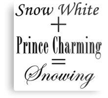 Snowing Equation Metal Print