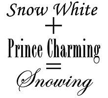 Snowing Equation Photographic Print